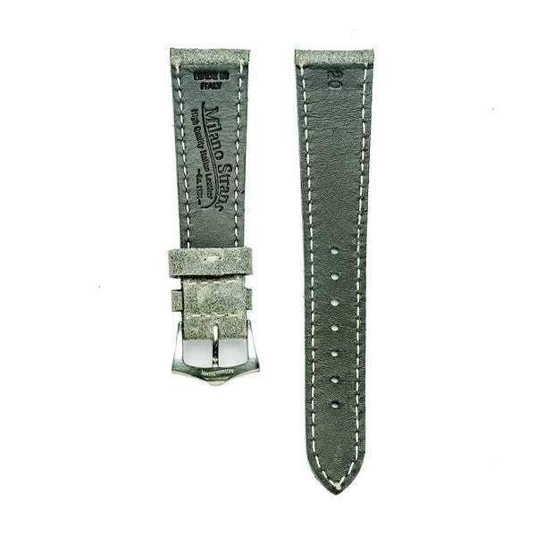 Grey Leather Vintage Watch Band