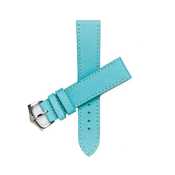 Milano Straps Leather strap Light Blu Epsom Leather Watch Strap