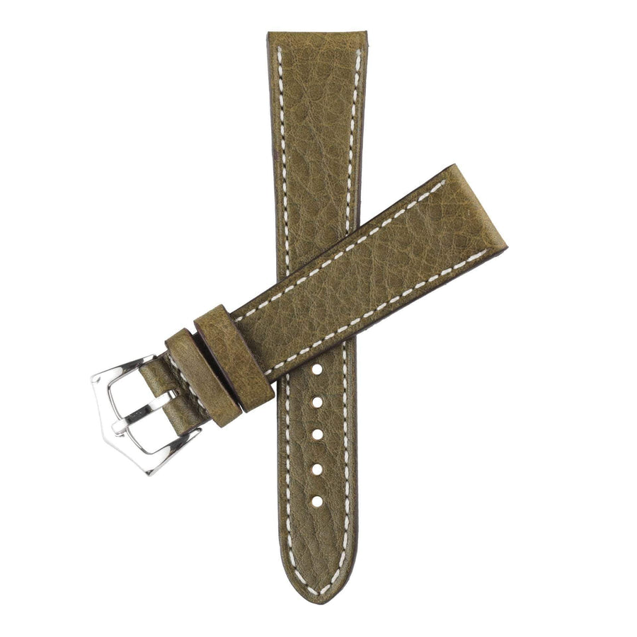 Milano Straps Leather strap Olive Leather Watch Strap