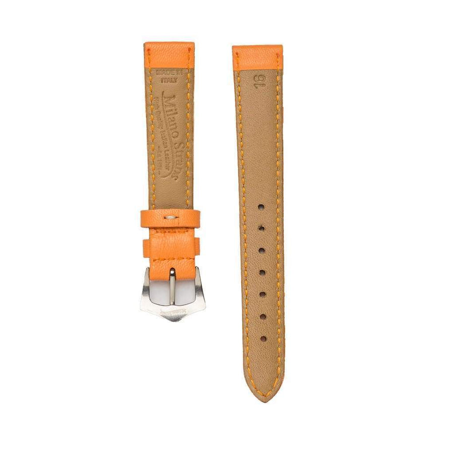 Milano Straps Leather strap Orange Nappa Leather Strap