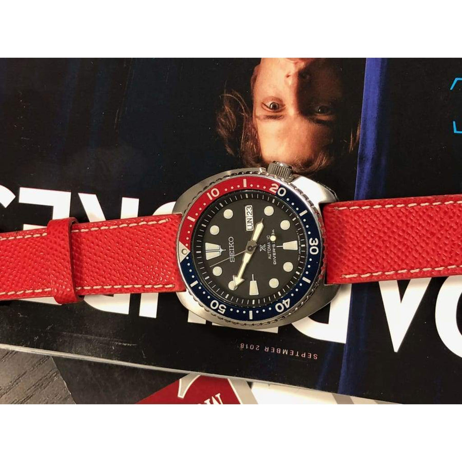 Milano Straps Leather strap Red Epsom Leather Watch Strap