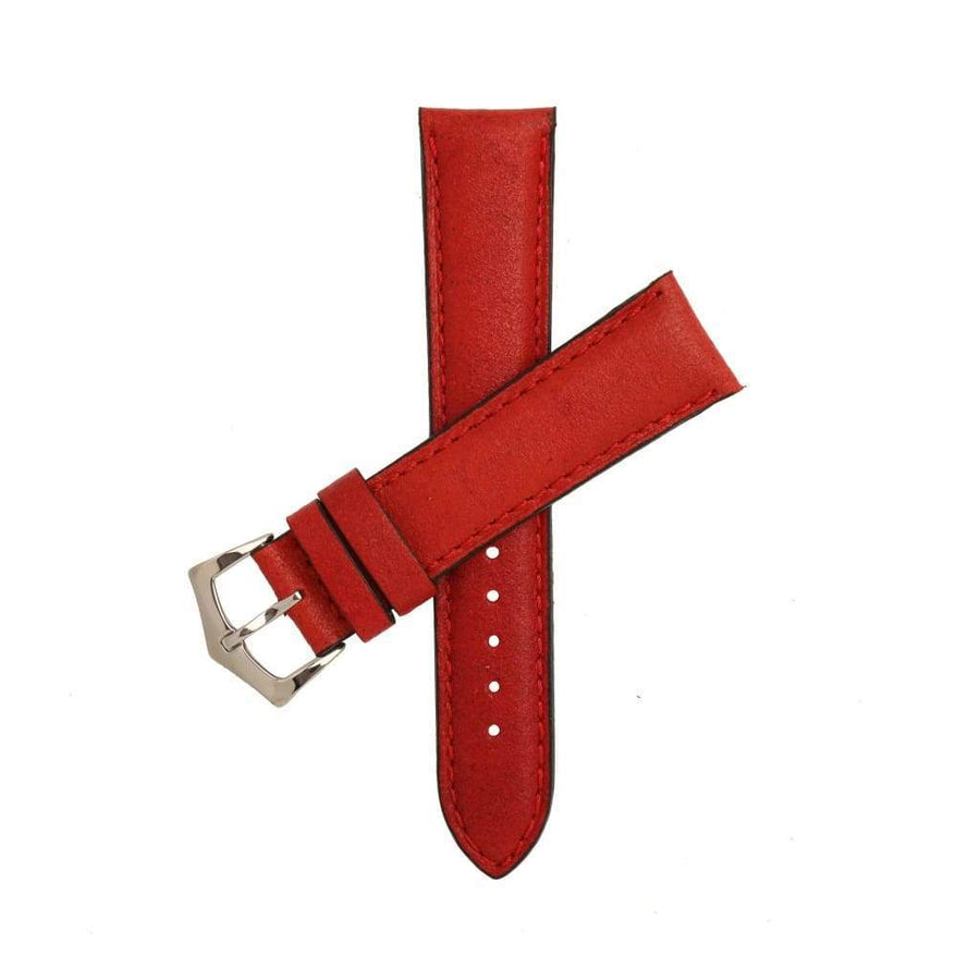Milano Straps Leather strap Red Leather Watch Strap