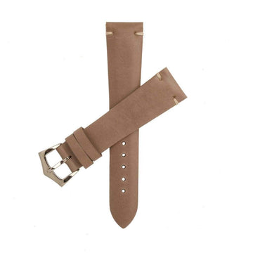 Milano Straps Leather strap Toupe Calfskin Leather Vintage Watch Strap