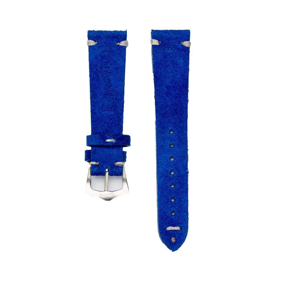 Milano Straps Suede strap Blu Suede Vintage Leather Watch Strap