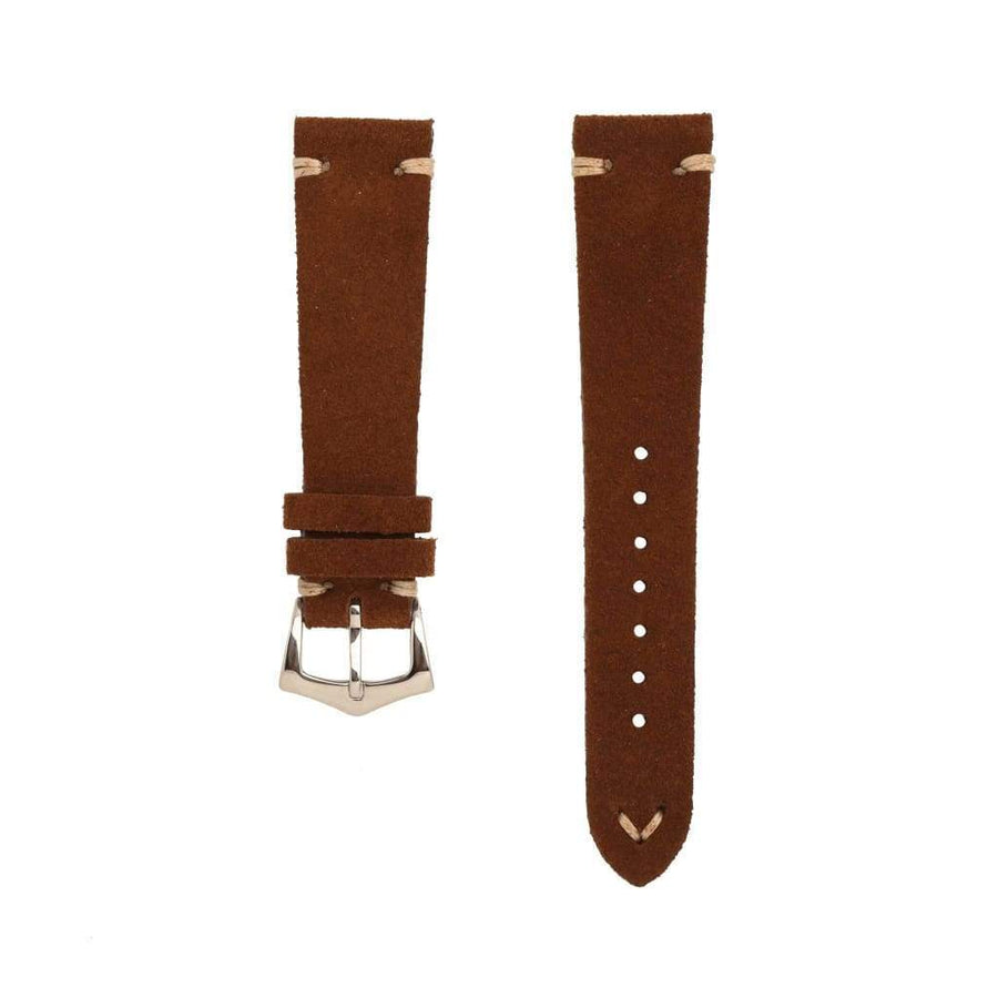 Milano Straps Suede strap Brown Suede Vintage Leather Watch Strap