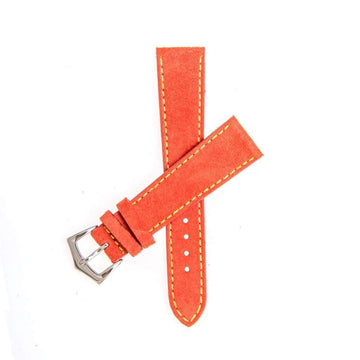 Milano Straps Suede strap Red Suede Watch Strap Stitches