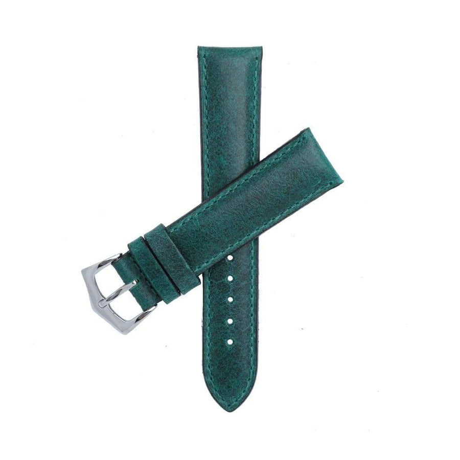 Milano Straps Watch Strap Green Leather Watch Strap