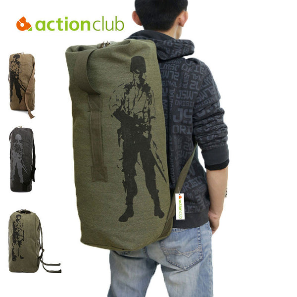 Army Bag Canvas Backpack