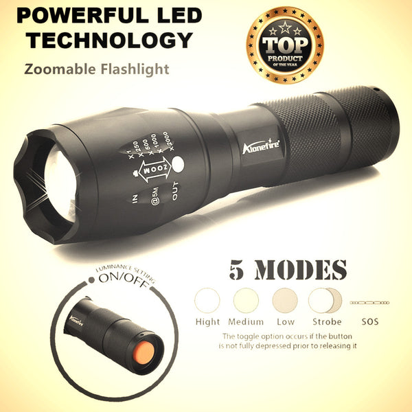 Tactical led flashlight main product page