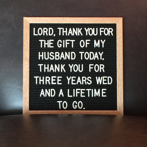 Thank You For The Gift of My Husband Today