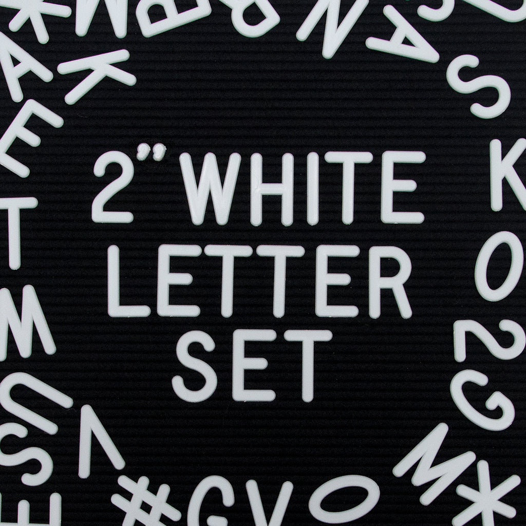 "2"" Letter Set, 328-Piece, White"
