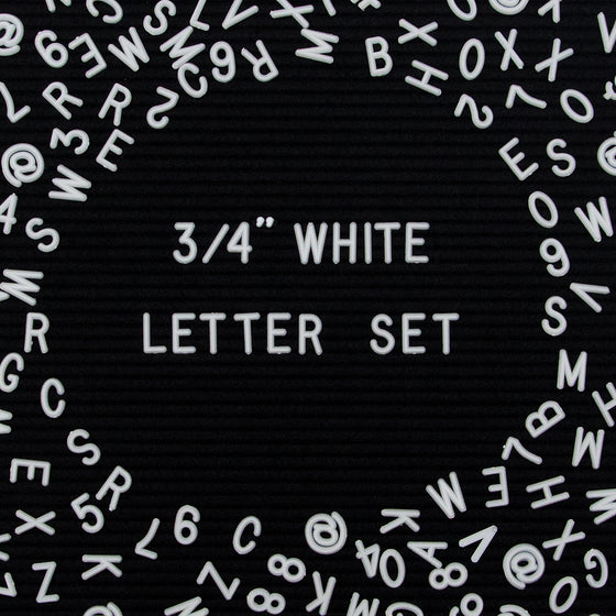"Say A Bit More: Additional 3/4"" 300-Piece Letter Set in White or Black"