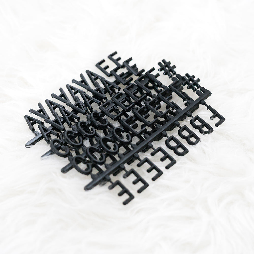 Say A Bit More: Additional 300-Piece Letter Set in Black