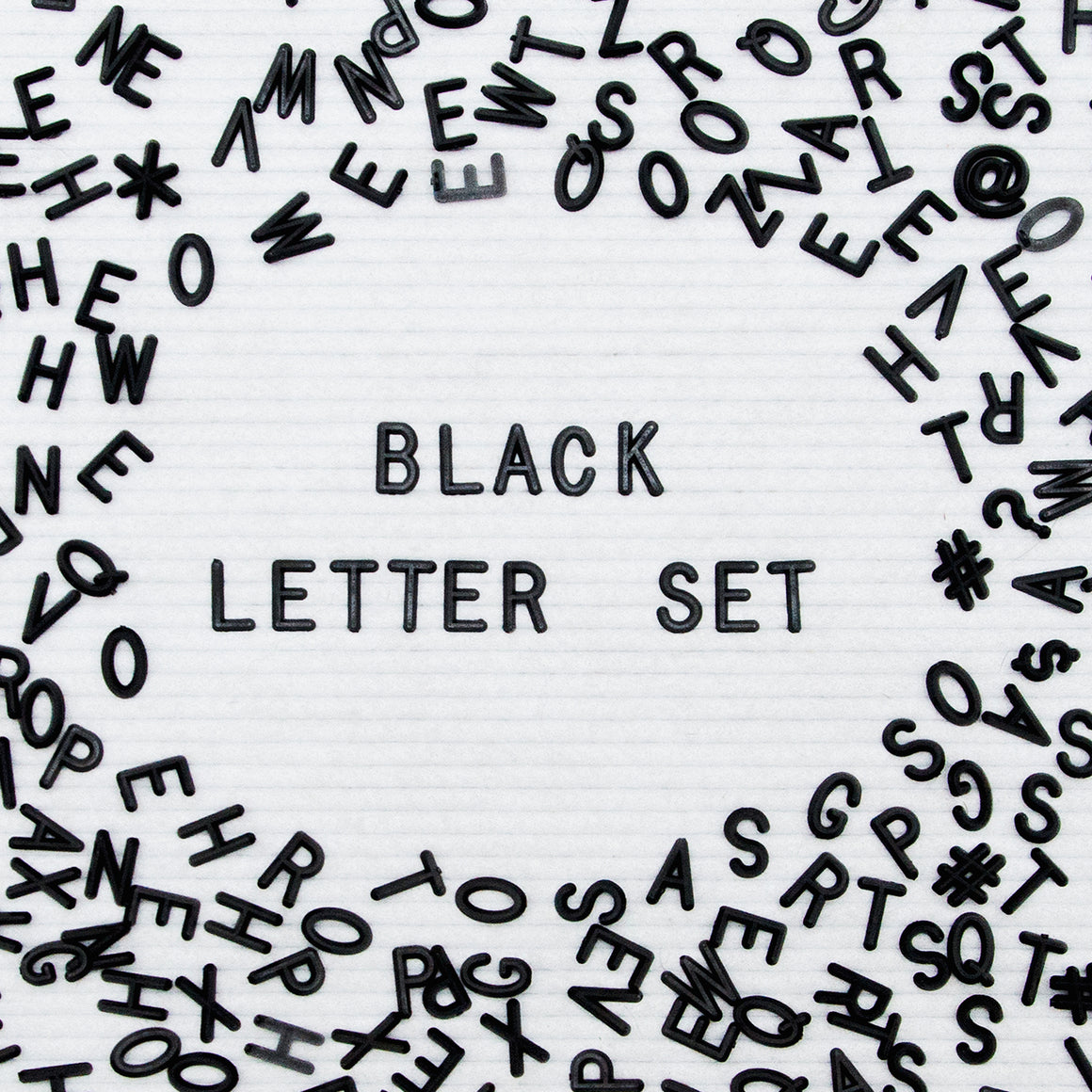 "Say A Bit More: Additional 3/4"" 300-Piece Letter Set in Black"