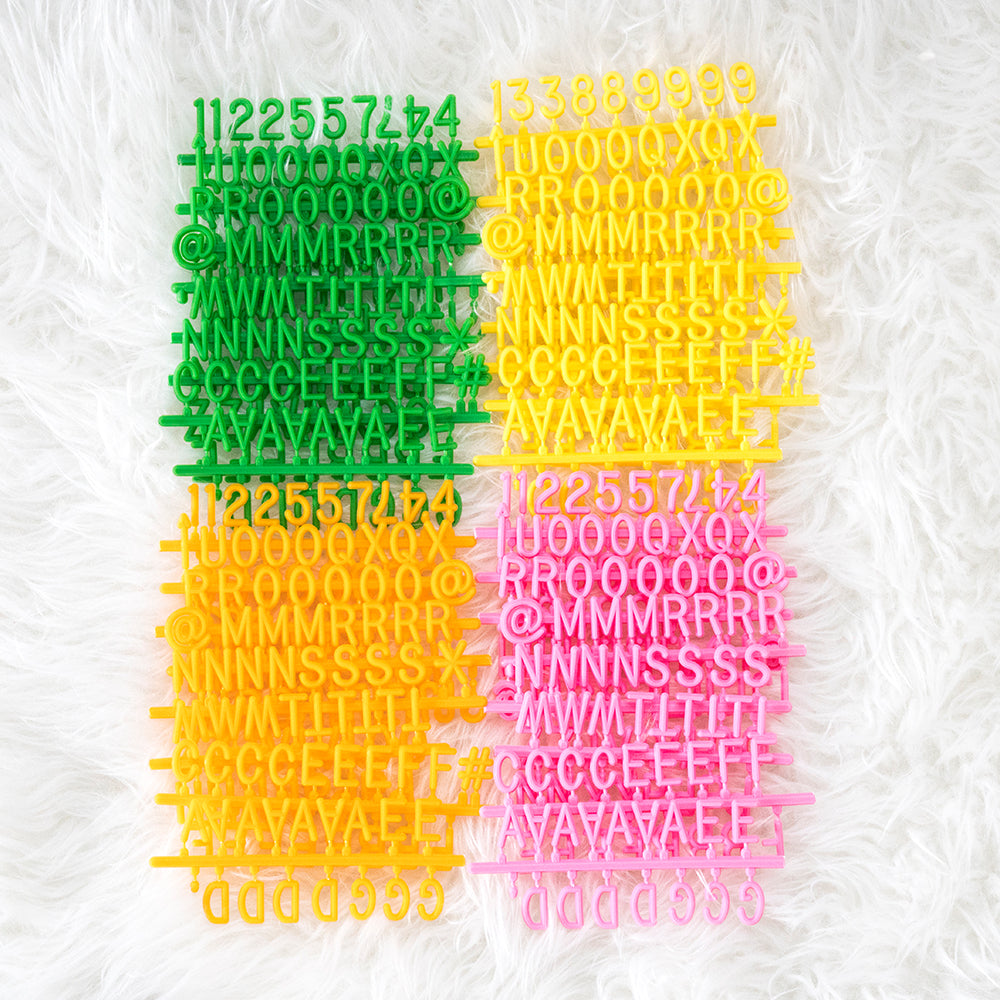 "3/4"" Citrus Celebration Letter Set, 600-Piece"