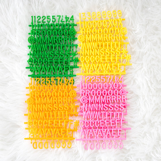 Citrus Celebration Letter Set, 600-Piece