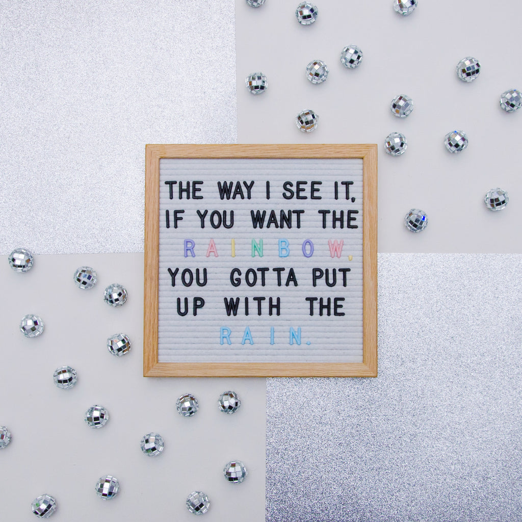 "Memo: White 10"" x 10"" Letter Board Set"