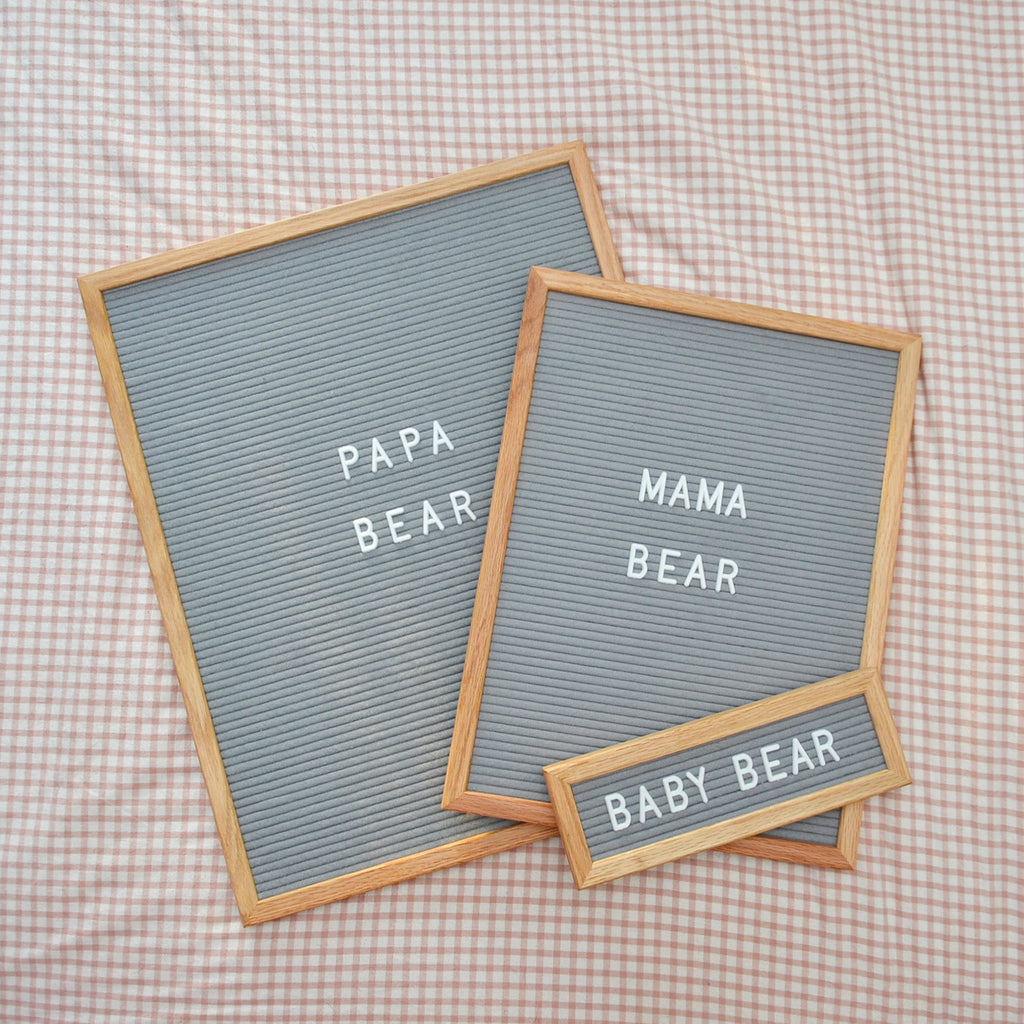"Speech: 16"" x 20"", Gray<br />348 Character White Letter Set Included"