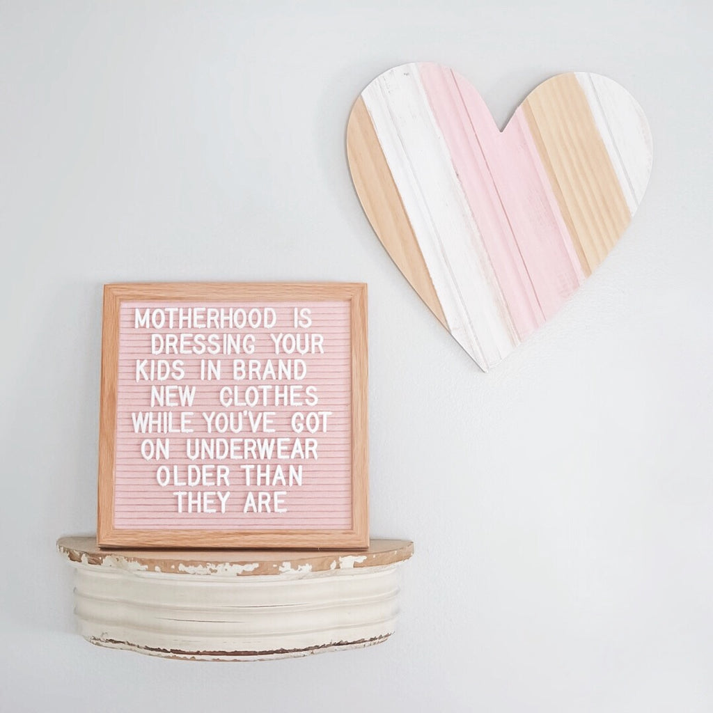"Memo: 10"" x 10"", Soft Pink<br />300 Character White Letter Set Included"