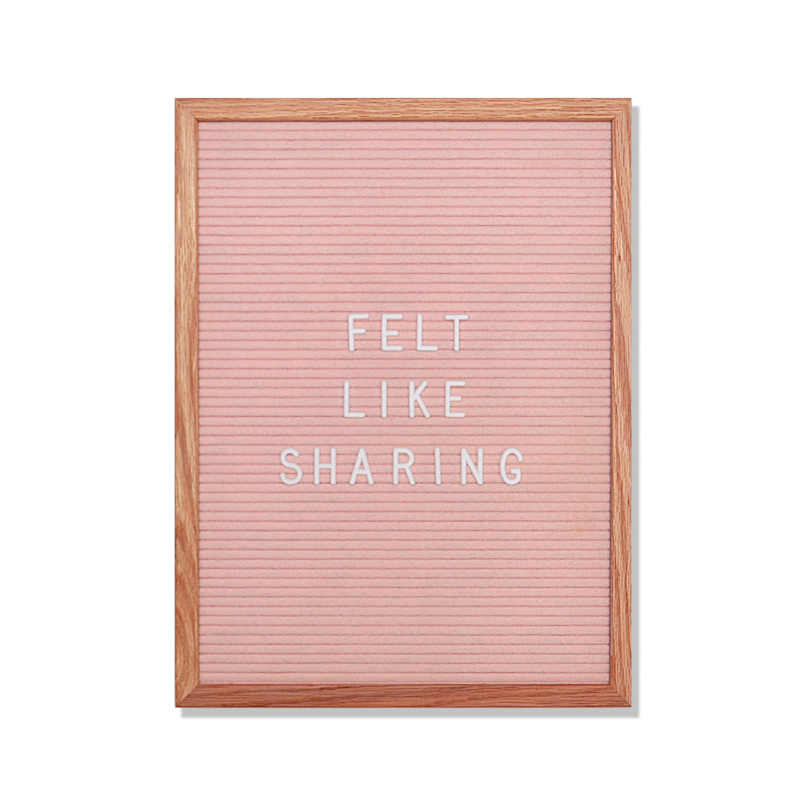 "Chatter: 12"" x 16"", Light Pink<br />348 Character White Letter Set Included"
