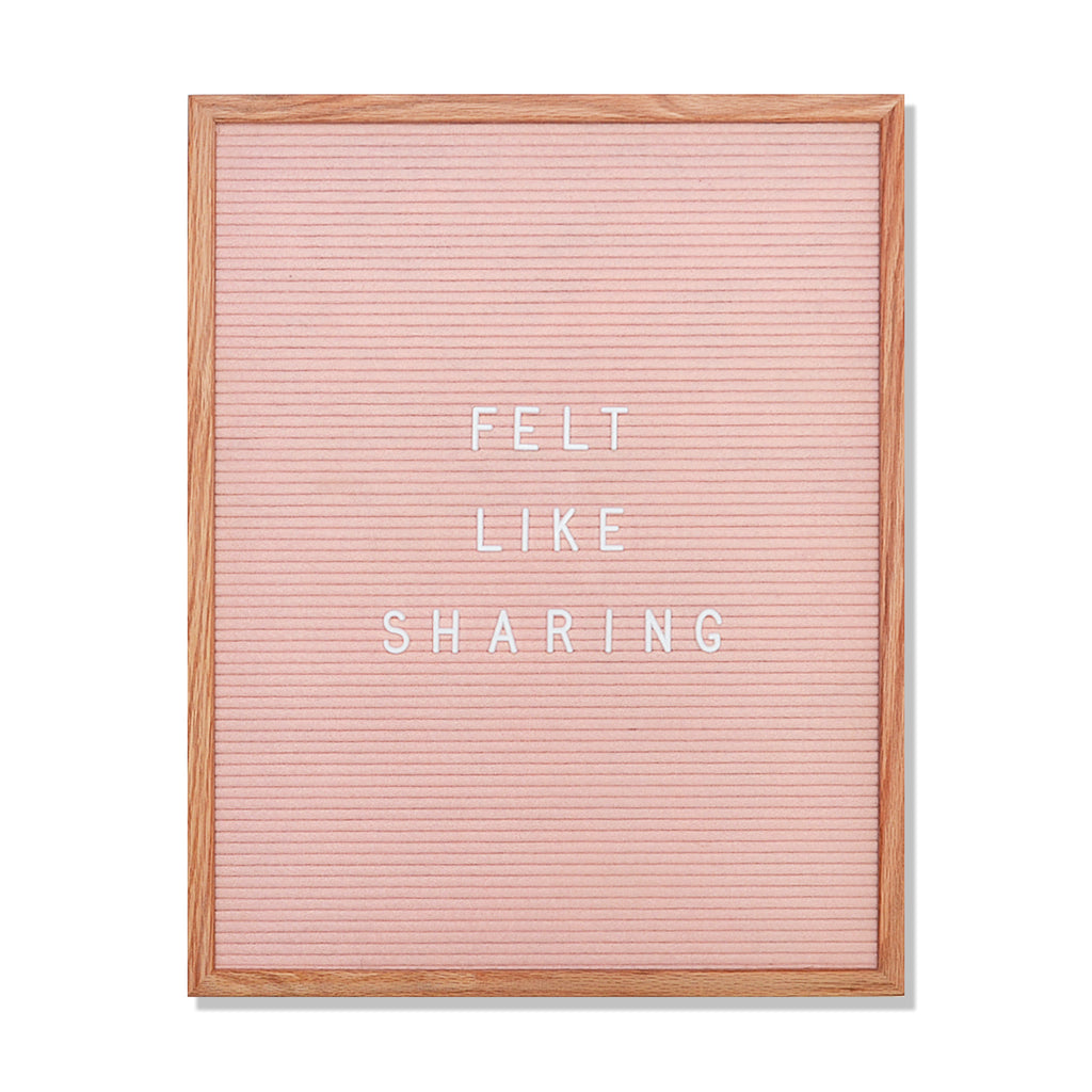 "Speech:  Light Pink 16"" x 20"" Letter Board Set"