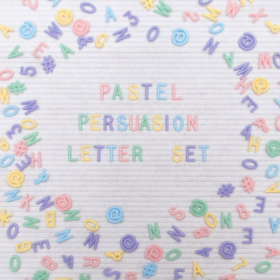 "3/4"" Pastel Persuasion Letter Set, 750-Piece"