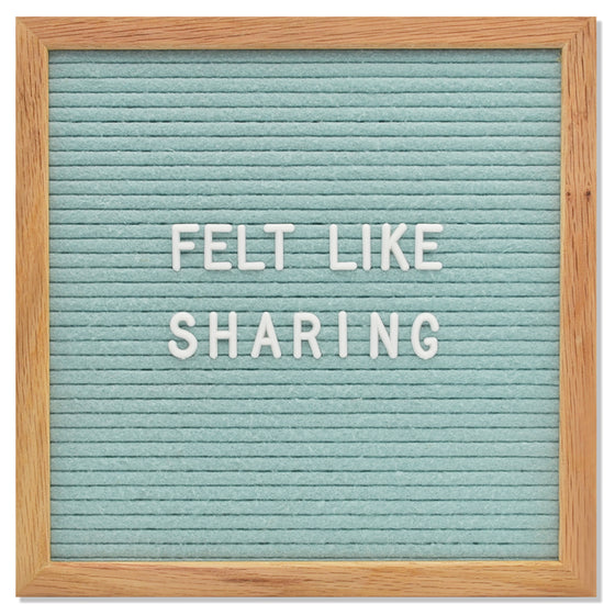 "Memo: 10"" x 10"", Seafoam Green<br />300 Character White Letter Set Included"