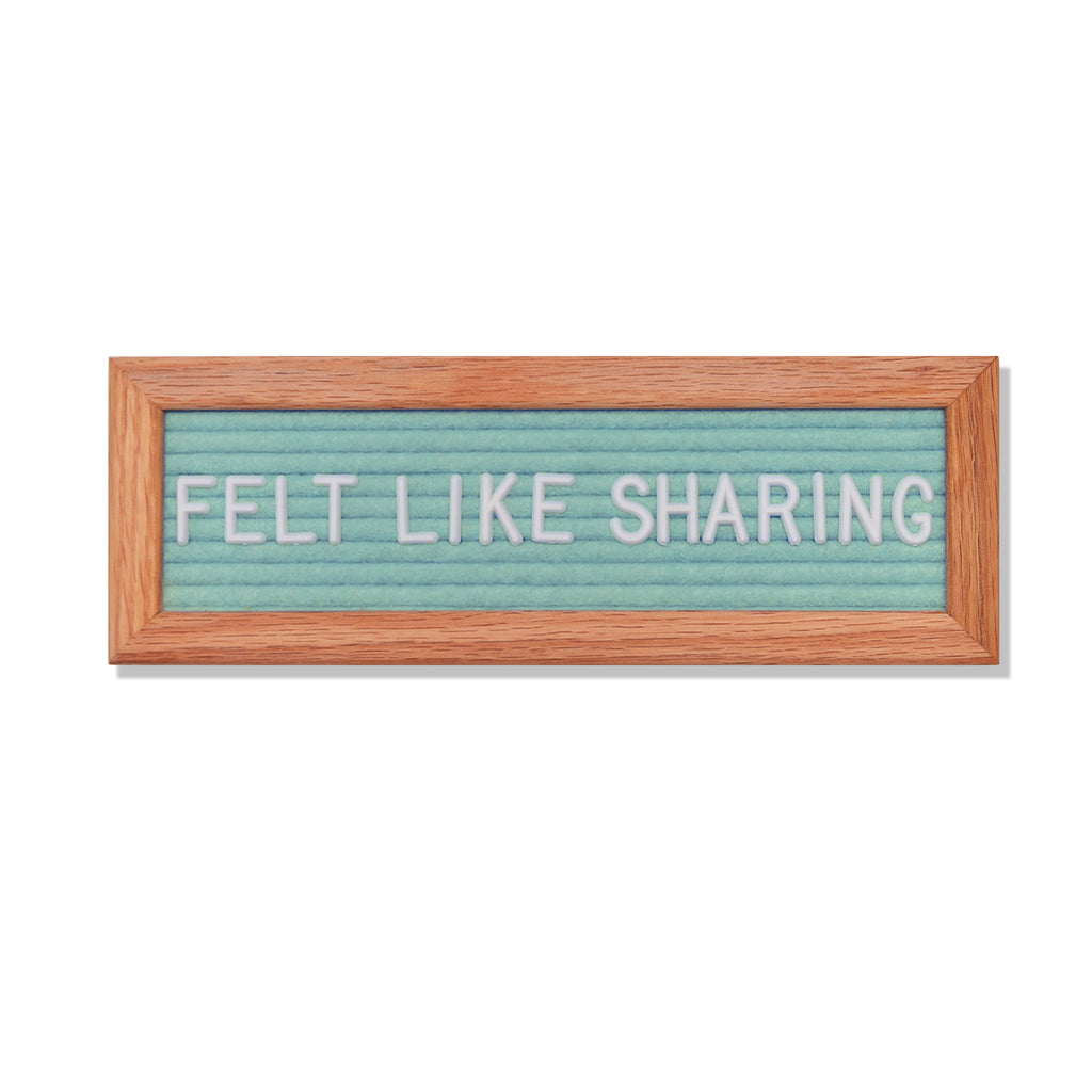 "Abbrev: 10"" x 3.5"", Seafoam Green<br />150 Character White Letter Set Included"