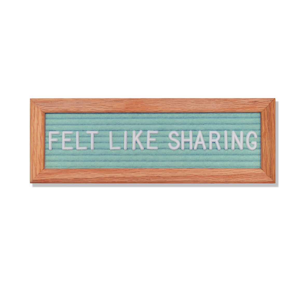 "Abbrev: 10"" x 3.5"", Seafoam<br />150 Character White Letter Set Included"