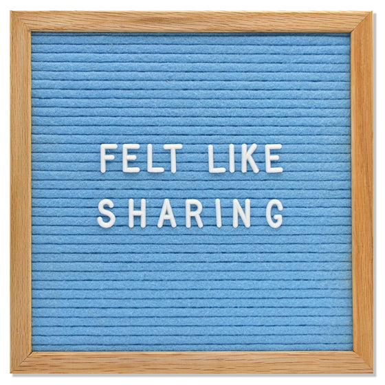 "Memo: Light Blue 10"" x 10"" Letter Board Set"
