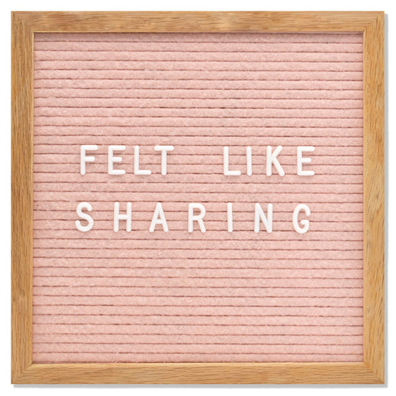 "Memo: Light Pink 10"" x 10"" Letter Board"