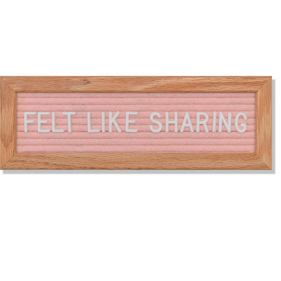 "Abbrev: 10"" x 3.5"", Light Pink<br />150 Character White Letter Set Included"