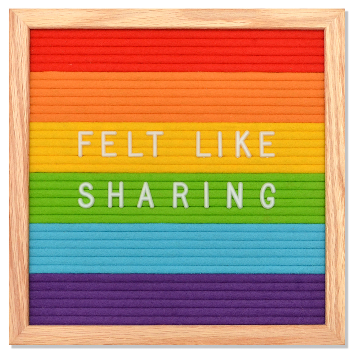 "Memo: Rainbow 10"" X 10"" Letter Board Set"