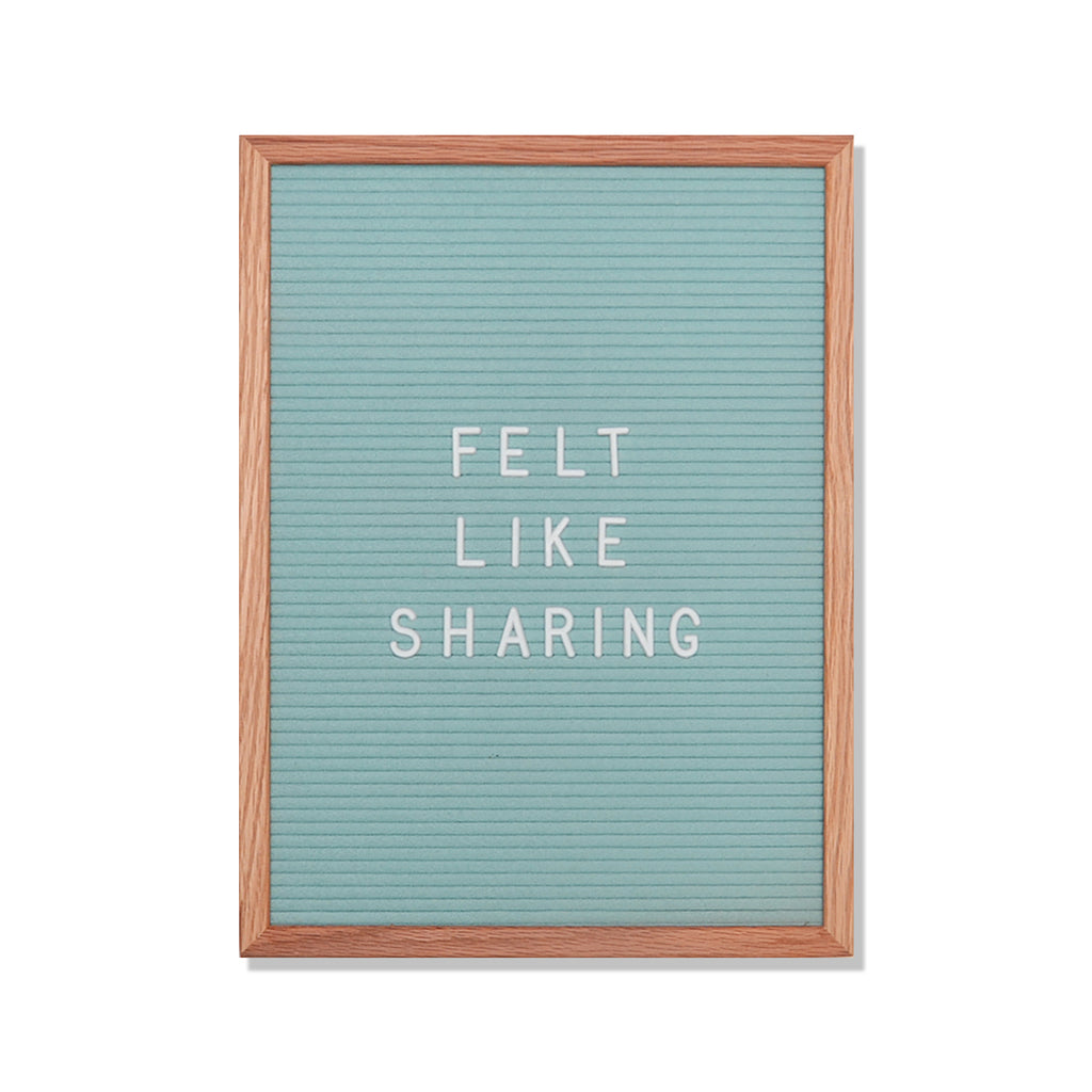 "Chatter: 12"" x 16"", Seafoam Green<br />348 Character White Letter Set Included"