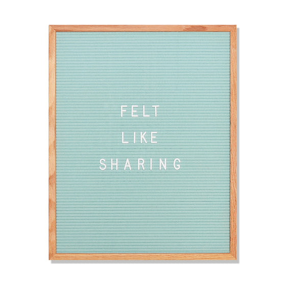 "Speech: 16"" x 20"", Seafoam Green<br />348 Character White Letter Set Included"