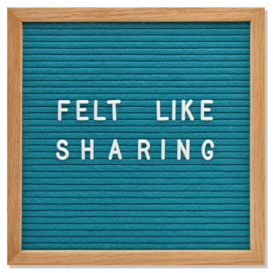 "Memo: 10"" x 10"", Tantilizing Teal<br>300 Character White Letter Set Included"