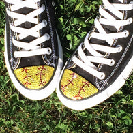 Women's Softball Bling Converse Shoes
