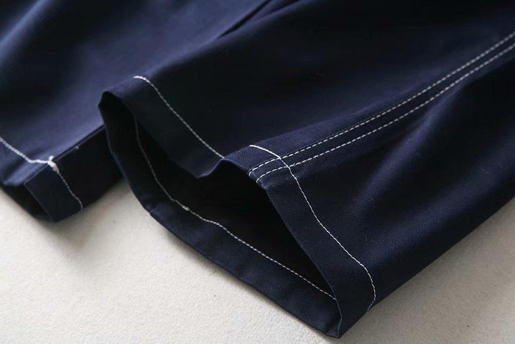 Buckle Belt Navy Work Pants