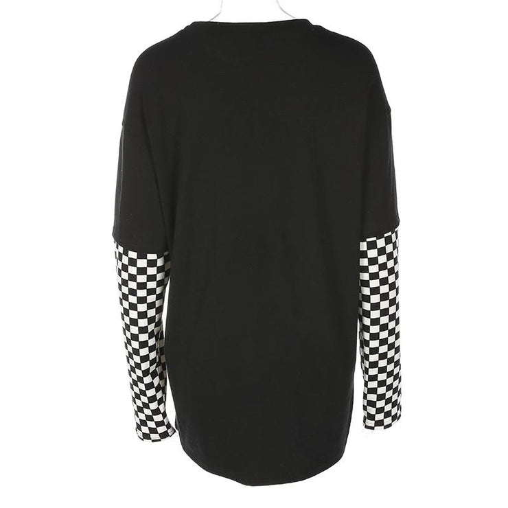 Burning Heart Checkered Long Sleeve
