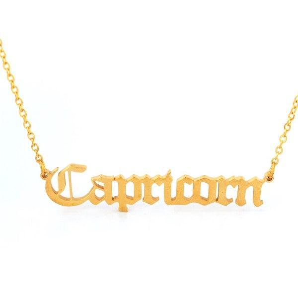 Capricorn - Zodiac Necklace