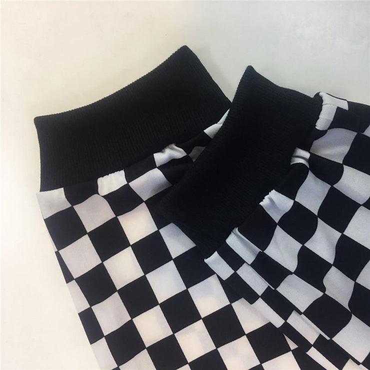 Checkerboard Simple Joggers