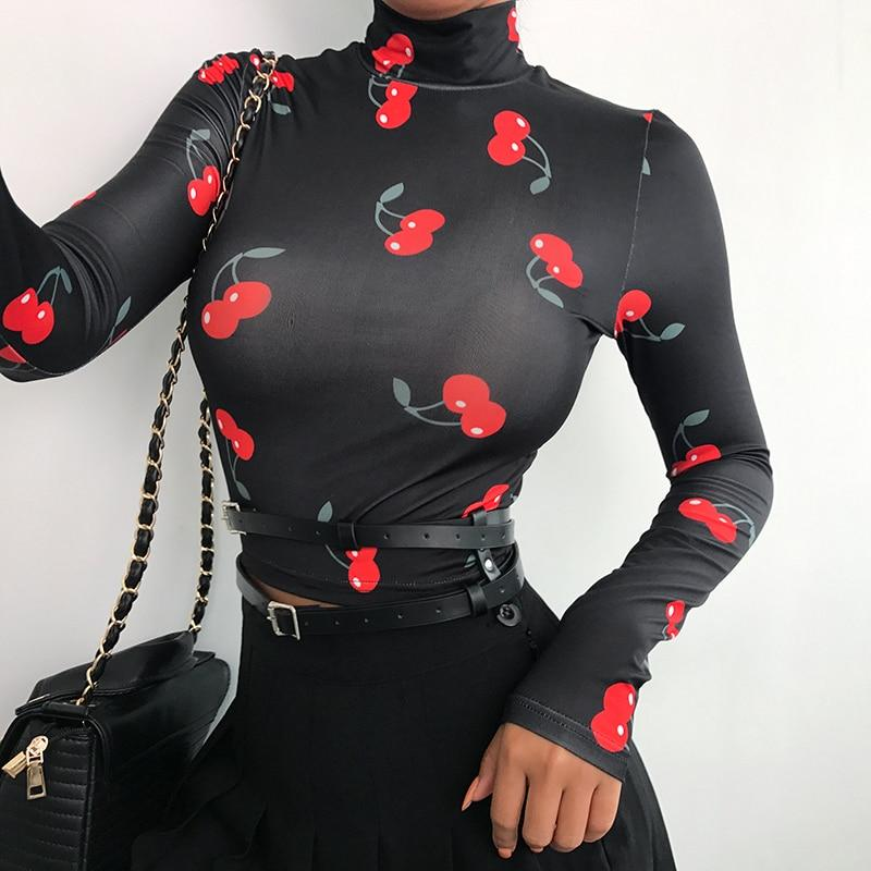 Cherry Turtleneck