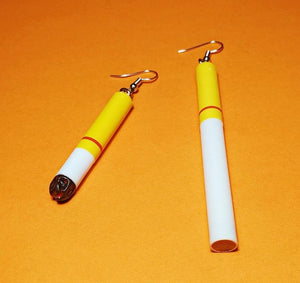 Cigarette Earrings
