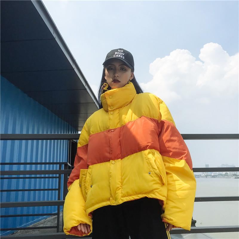 Contrast Puffer Jacket