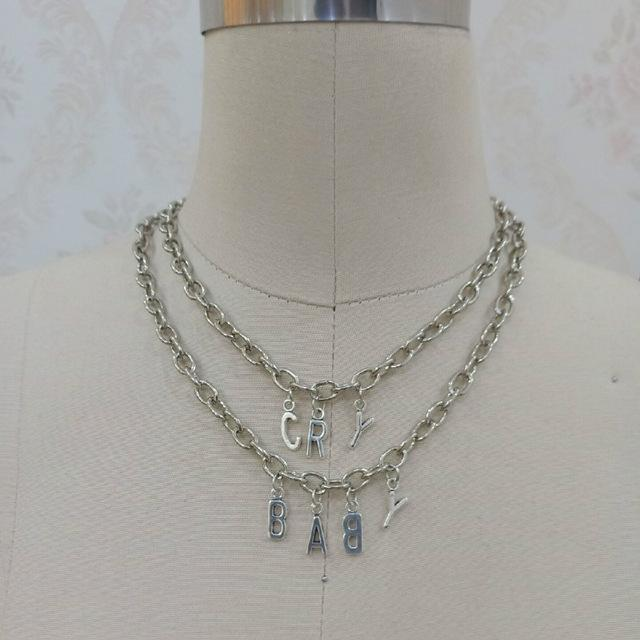 Cry Baby Chain Necklace