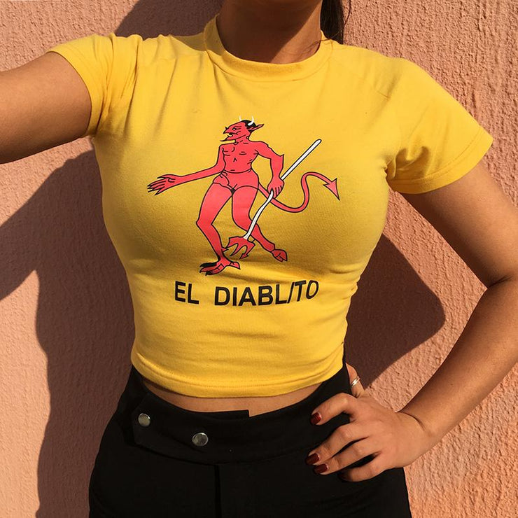 Devil Cropped Tee