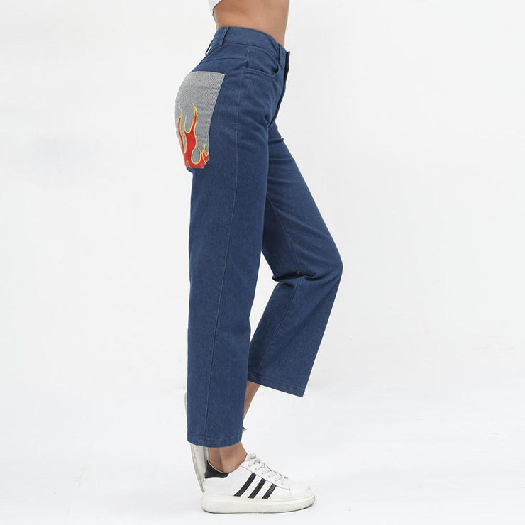 Flame Pocket Denim Pants