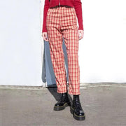 High Rise Summer Plaid Pants