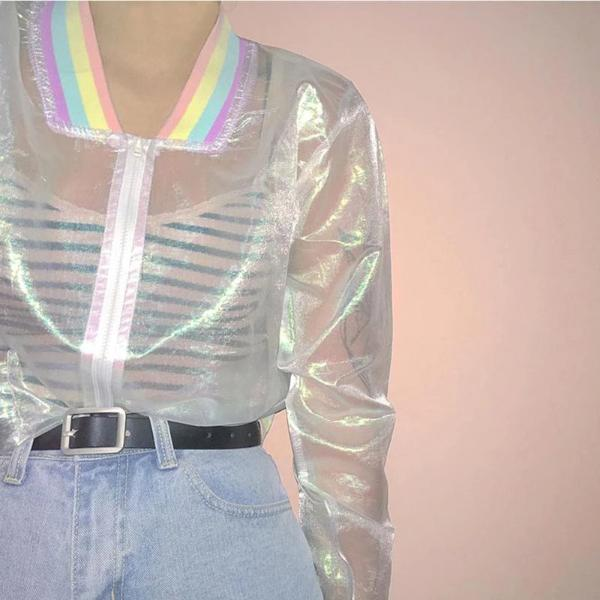 Holographic Mesh Jacket