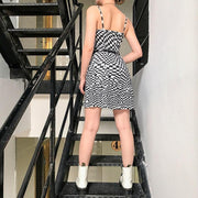 Irregular Checkered Dress
